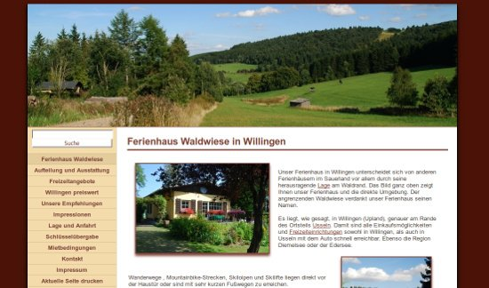 Screenshot - Ferienhaus Waldwiese in Willingen