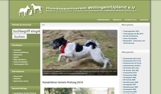 Screenshot - Hundesportverein Willingen